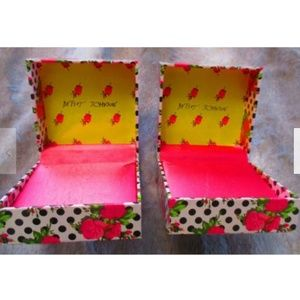 Betsey Johnson Jewelry Boxes Roses & Polka Dots